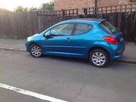 57 REG PEUGEOT 207 1.4 M PLAY 42K MILE 2 OWNERS not fiesta corsa clio picanto polo golf astra focus