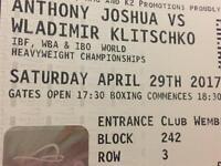 Joshua V Klitschko Tickets