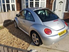 2002 Volkswagen vw new beetle tdi silver, great condition, mot 5/18, blutooth, winterpack, aircon