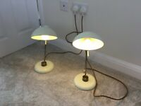 2 Penelope Table Lamps (Cream) from John Lewis - Collect Only