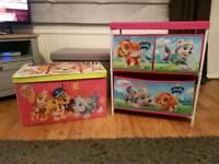 Paw Patrol storage boxes