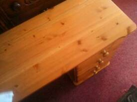 Solid pine 8 Drawer dressing Table