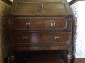 Antique Solid Oak Bureau