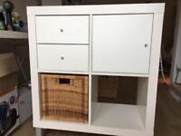 Ikea Kallax white storage unit