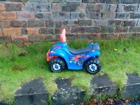 Quad bike, toy ride on, rechargeable battery