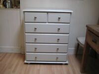 Lovely Solid Pine Chest of Drawers - Professionally painted in Farrow & Ball Eggshell