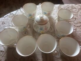 Royal Doulton Elegy 1976 China Cup etc, wedding party event