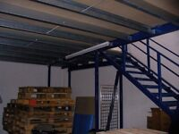 MEZZANINE FLOOR 12M X 8M WITH STAIRS DISMANTLED. REDUCED( STORAGE , PALLET RACKING )