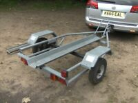 GALVANISED STEEL 300KG MOTORCYCLE TRANSPORTER ROAD TRAILER....