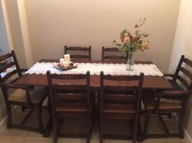 ANDRENA - SOLID DARK OAK TABLE AND CHAIRS