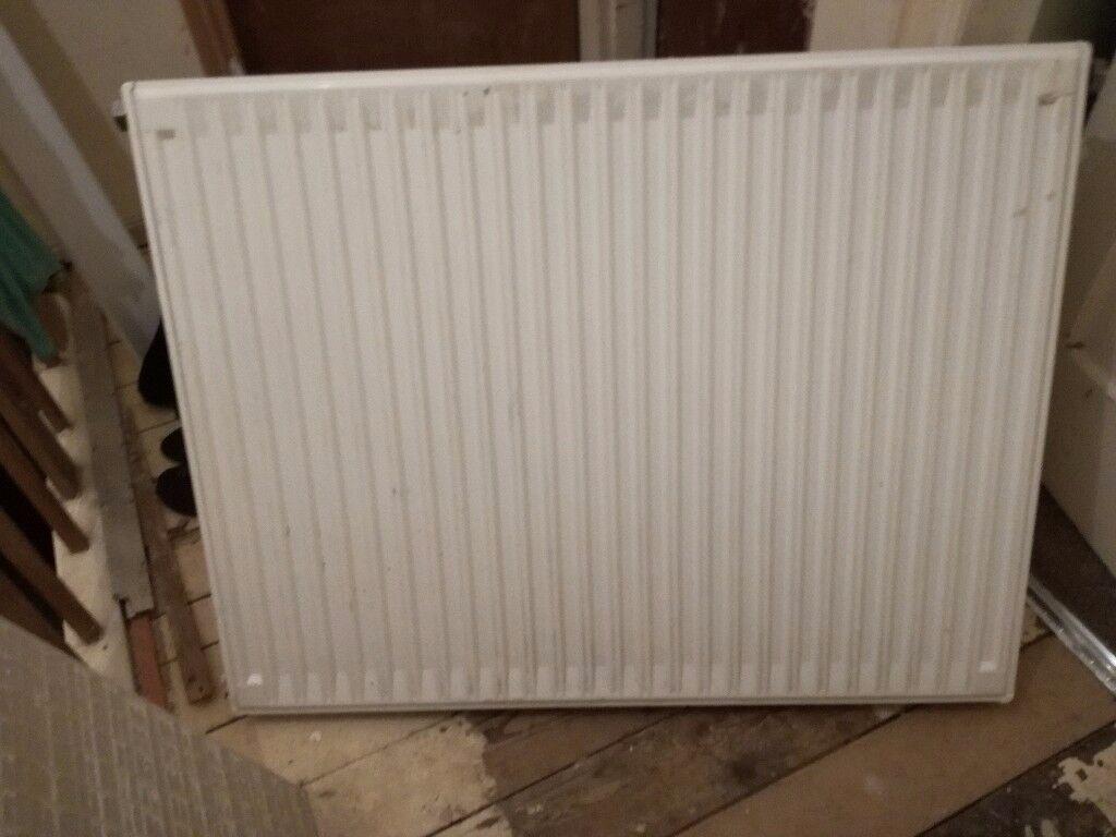 White single radiator, used