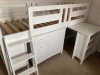 Children's Mid Sleeper Cabin Bed with Storage