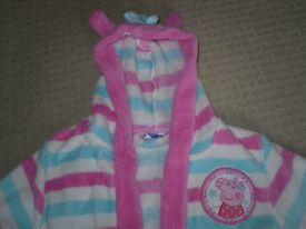 Peppa Pig dressing gown 18-24 months