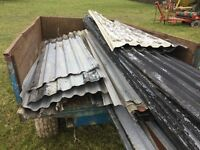 Job lot of used galvanised roofing sheets box profile