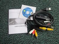 Attachments to transfer video tapes to DVD with USB grabber. Never used.