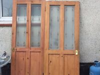 Internal Glass Panel Doors x 2