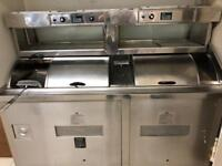 Fish and chips 2 pan frying range