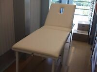 White Folding Massage Couch with Covers