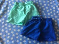 Boy's swim shorts x2 age 2-3 years