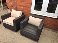X2 Rattan Chairs