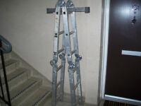 4 section, folding ladder.