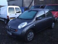 2005 NISSAN MICRA LOVELY ENGINE AND GEARBOX DRIVEAWAY A BARGAIN SPARES OR REPAIR FRONT BUMPER DANAGE