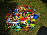 A large collection of lego duplo