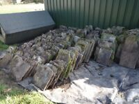 Approx 3-4 tons of stone roof slates/tiles