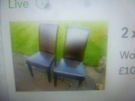 2 x MULTI YORK DINING CHAIRS ONLY £10