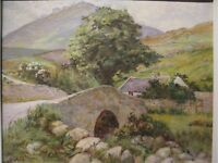 Oil on canvas picture painting by Bond Walker irish Artist Mournes