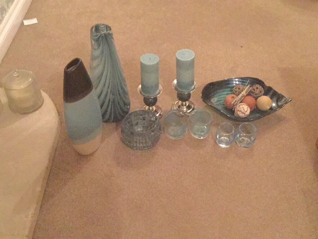 Bundle Of Home Accessories In Duck Egg Blue