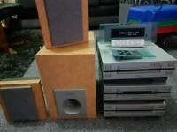 Pioneer separates hifi system cd mini disc cassette tuner