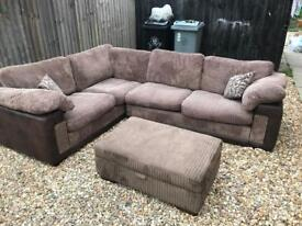 DFS corner sofa bed with foot stall
