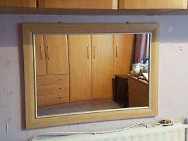 Light wood mirror