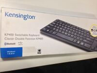( Boxed ) Kensington KP400 Switchable Multi-Device Bluetooth or USB Keyboard KP400