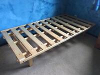 Two Twin Wooden Beds