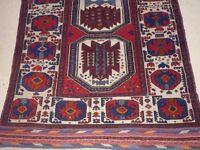 Vintage Persian Rug, Wool, Tribal, Rare