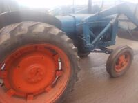 Fordson major tractor with loader not massey david brown