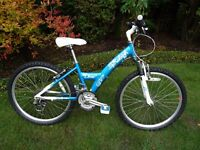 """Raleigh Diva Girls 24"""" Front Suspension Mountain Bike age 9-12 yrs"""