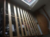 Kingsize Wooden Oak Bed Frame. Amazing Condition. Very strong and sturdy. Bed frame only.