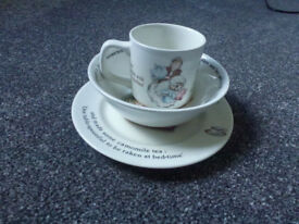 Peter Rabbit cup and plate