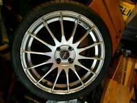 """Fox racing alloy wheels, 17"""" 4x100"""