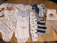 Small bundle baby boy clothes 0-3