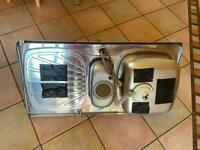 Stainless steel sink, waste disposal unit and tap for sale