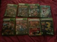 Xbox slim 360 with games 2 contollers