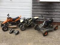 Kids Quad Bikes x2 and Mini Moto