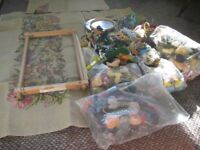job lot tapestry embroidery yarns frames