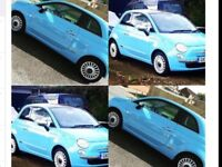 Fiat 500 1.2 lounge ,full leather,blue, panoramic sunroof,chrome pack ,stop/start, unmarked alloys