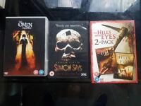 For Sale: Horror films 6 DVDs . Bundle or Separate