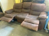 HARVEYS SUEDE SOFA RECLINER IN GOOD CONDITION